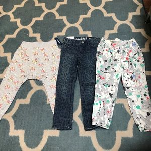 GAP and Old Navy Girls 3t NEW pants!